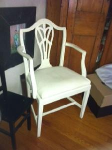 Set of six mahogony dining chairs